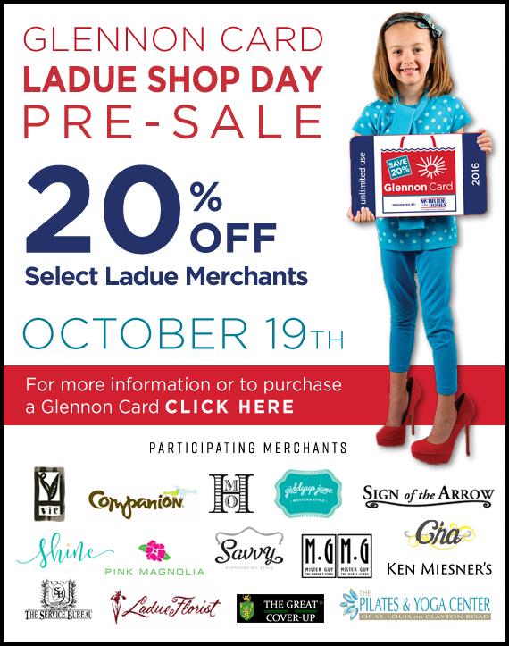 Glennon Card Ladue Shope Day Pre-Sale
