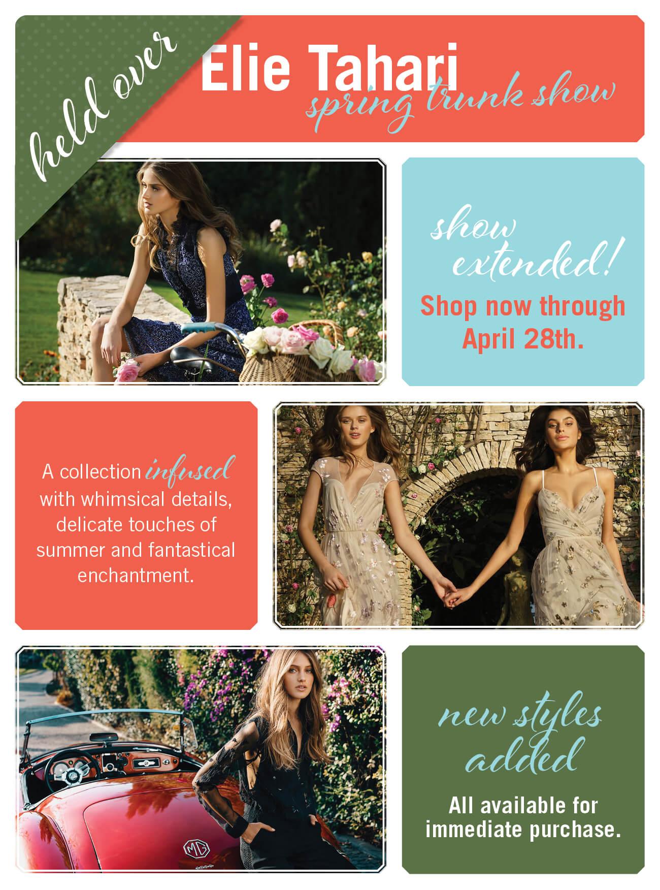 HELD OVER | Elle Tahari Spring Trunk Show