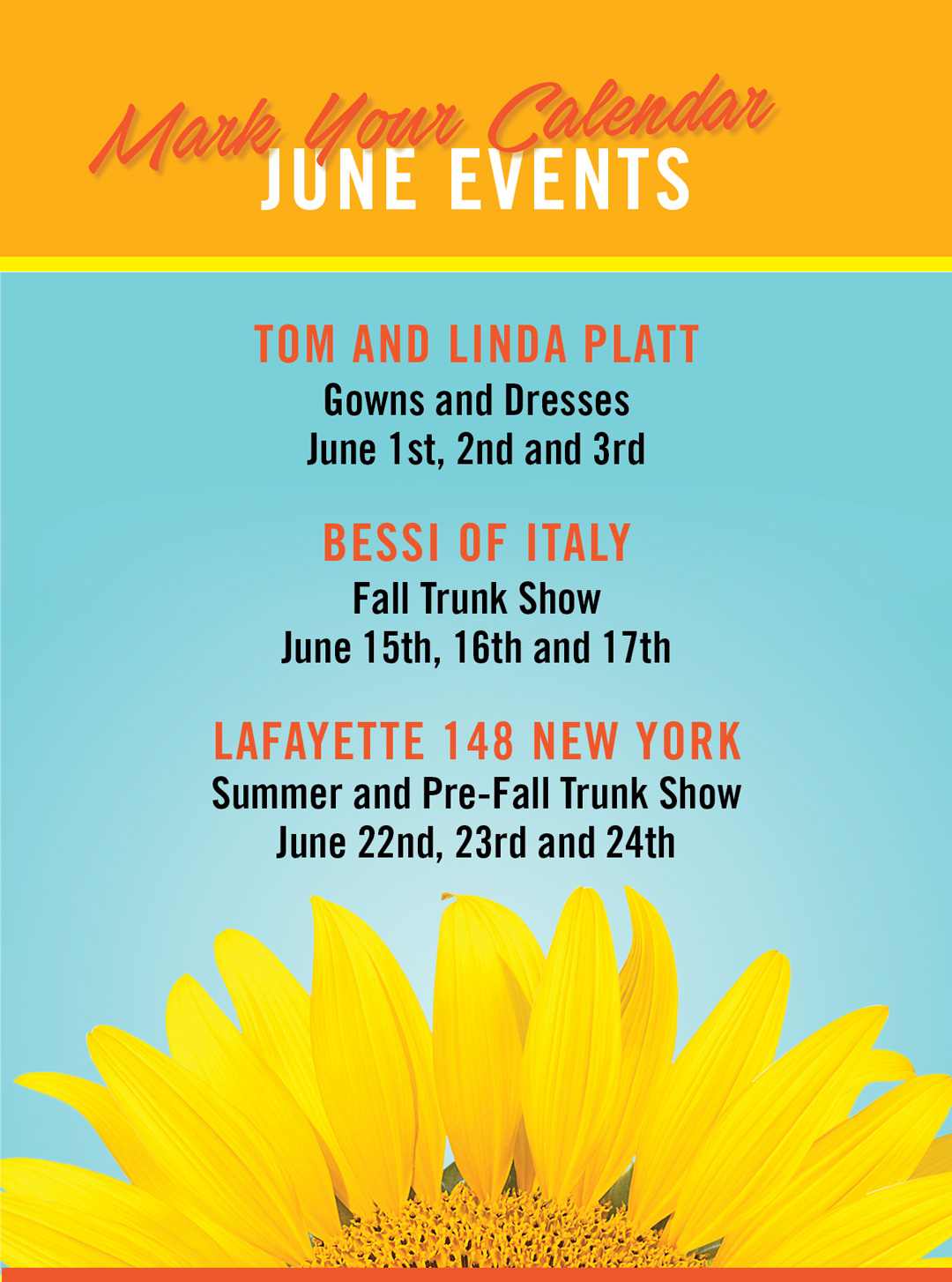 Mark Your Calendars! June Events