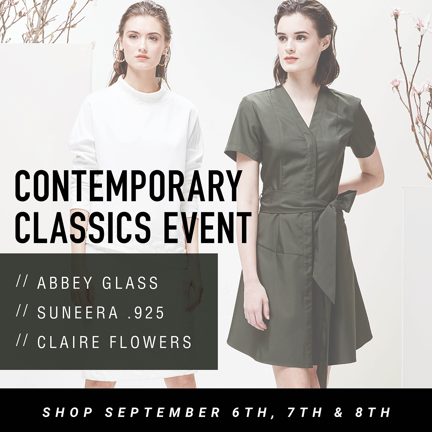 Contemporary Classics Event September 6th, 7th, and 8th
