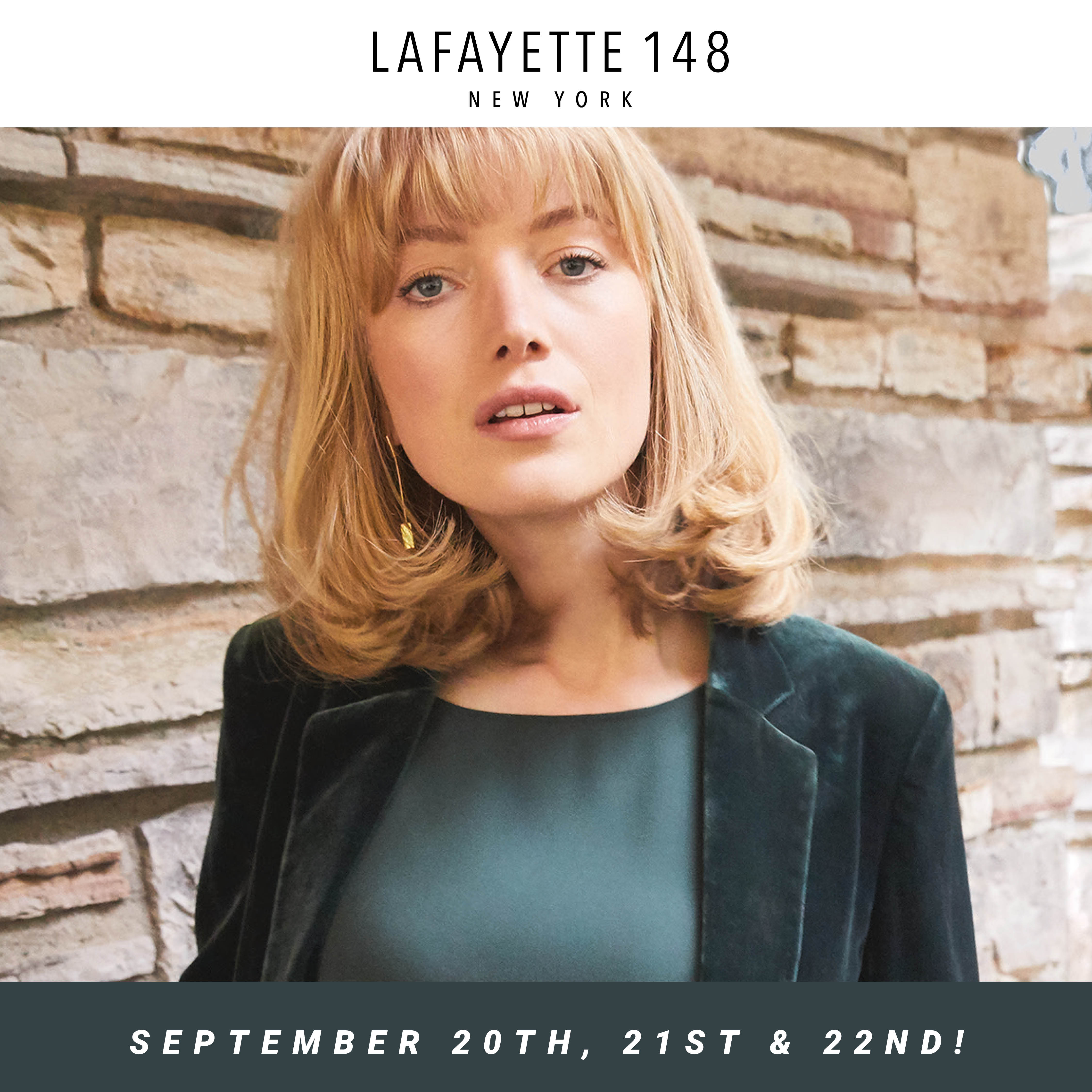 Lafayette 148 Fall Trunk Show September 20th, 21st and 22nd