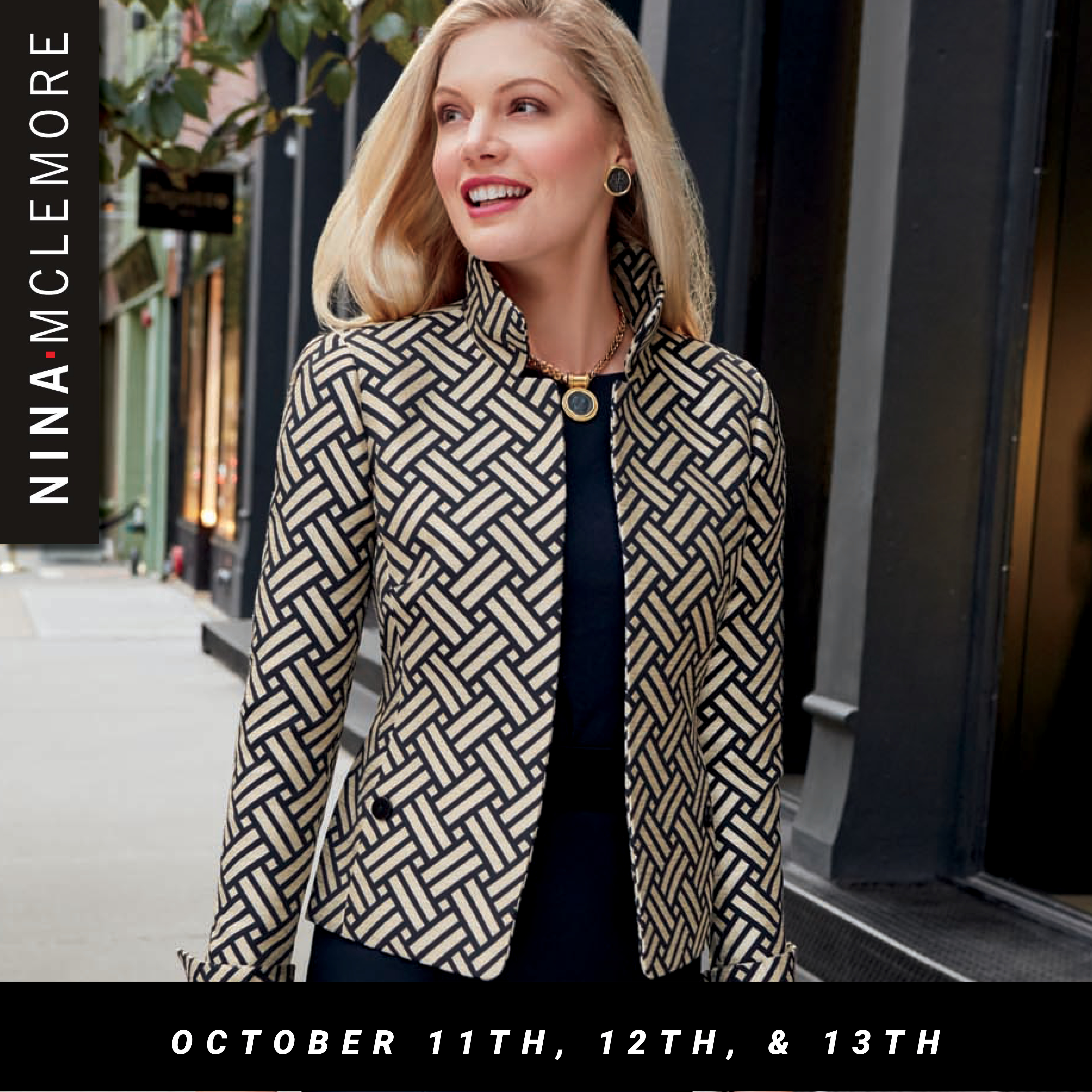 Nina McLemore Holiday Trunk Show October 11th, 12th, and 13th